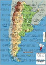 physical map of argentina geoatlas countries argentina map city illustrator fully