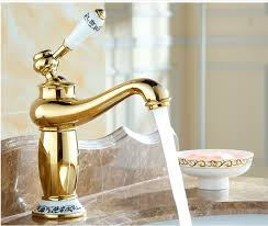 Gold Faucet Bathroom by Online Get Cheap Gold Wash Basin Aliexpress Com Alibaba Group