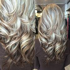 platimum hair with blond lolights cute color layering dark and hair style