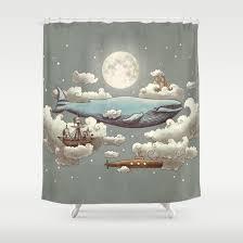 Whimsical Shower Curtains Meets Sky Shower Curtain By Igo2cairo Society6