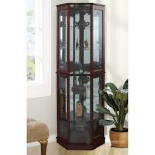 Corner Lighted Curio Cabinet China Cabinets Wayfair Corner Curio Cabinet Loversiq