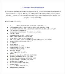 Network Engineer Resume Example by Sample Resume Template 53 Download In Psd Pdf Word