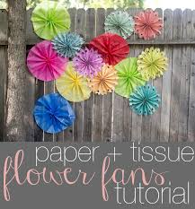 tissue paper fans domestic fashionista paper flower fans tutorial