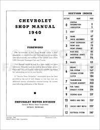 1940 chevrolet repair shop manual reprint chevy truck car pickup