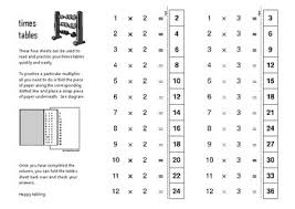 times tables practice sheets times tables practice resuable fold over 2x 12x tables practice
