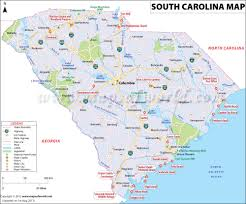 Map Of The Southeastern United States by South Carolina Map Map Of South Carolina Sc Map