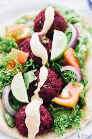 ebook cuisine vegan beet falafel with harissa tahini dressing ebook sneak peek