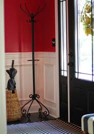 entryway wrought iron standing coat rack attractive and
