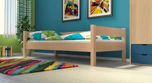 jugend bett jugendbett einzelbett jens natur klar lackiert vollholz inkl roll