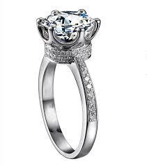rings solitaire designs images Classic design women crown ring solitaire 2ct 5a zircon stone cz jpg