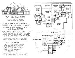 5 bedroom 4 bathroom house plans two 5 bedroom house plans adhome