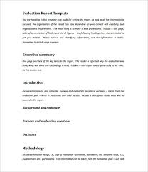 Sample Executive Summary For Resume by Evaluation Report Writing Sample Format