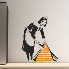 wall art design giksy wall art black white orange servant picture giksy wall art black white orange servant picture contemporary unique banksy removable wall fancy awesome wall decoration ideas 2016