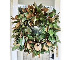 diy real magnolia wreath yellow