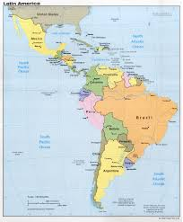 america map political political map of central america and the caribbean nations maps