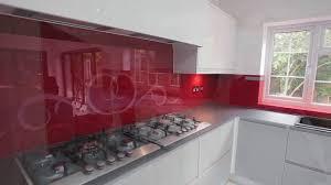 non scratch kitchen glass island worktops and glossy splashbacks