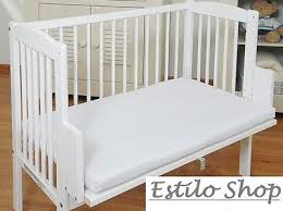 Next To Bed Crib Baby Crib Bedside Cot Bed Free Mattress Wooden White Next To