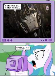 Princess Celestia Meme - image 259593 unopt safe princess celestia tv meme death optimus