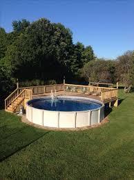 Small Backyard Above Ground Pool Ideas Best 25 Above Ground Pool Decks Ideas On Pinterest Pool Decks