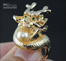 dragon jewelry rings images Vintage antique dragon ring pearl assort cz diamond finger rings jpg