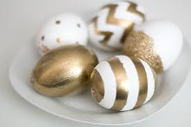 gold easter eggs kate spade inspired gold eggs easter and easter table