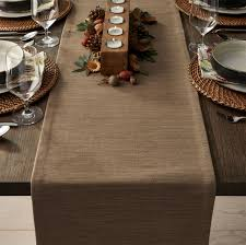 grasscloth 90 brindle brown table runner crate and barrel