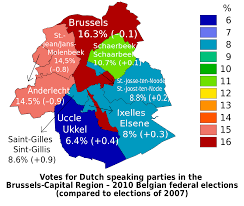 Where Is Brussels Belgium On A Map File Map Of Dutch Speaking Political Parties Results In Brussels