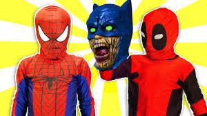 spiderman halloween costumes for kids superhero pranks spiderman power rangers batman zombie
