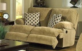 Chenille Reclining Sofa Newport Dual Rocking Reclining Seat In Pecan Chenille By