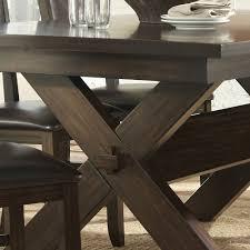 trestle base dining table homelegance roy dining table w x trestle base in dark espresso