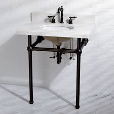 kingston brass console sink kingston brass templeton vitreous china 13 console bathroom sink