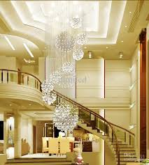 hall and stairs lighting dia 80xh220cm led crystal light modern spiral staircase ls