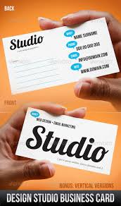 Studio Visiting Card Design Psd Graphicriver Design Studio Business Card 252717 Stock