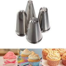 meigar 4pcs russian cake icing piping nozzles set tools kit