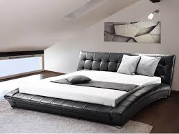 Conforama Schlafzimmer Set Lederbett Schwarz Lattenrost 160 X 200 Cm Lille Beliani Ch