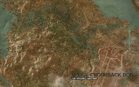 The Witcher 3 World Map by Velen Crookback Bog Map The Witcher 3 Wild Hunt Maps U0026 Quests