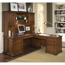 L Shaped Office Desk With Hutch Riverside Cantata L Shaped Workstation Computer Desk Hayneedle