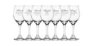 personalized glasses wedding 9 personalized wine glasses bridesmaid wine glasses gift for
