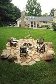 Granite Fire Pit by Best 20 Rock Fire Pits Ideas On Pinterest Backyard Pool