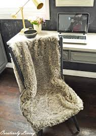 fur chair cover 15 minute faux fur chair cover no sew creatievly living