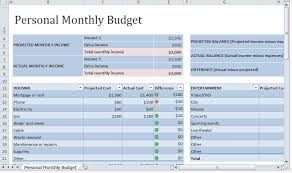 Personal Budget Spreadsheet Template Personal Budget Template Vnzgames