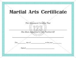 best martial arts certificate templates for free download now