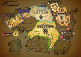 Map Of Skyrim A Cool Map Of The Games Of Tes Skyrim