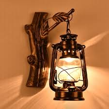 Wall Sconce Bronze Industrial Wall Sconce Nautical Style With Lantern Glass Shade In