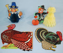 vintage die cut thanksgiving decorations beistle tom turkeys