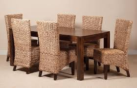 Beautiful Wicker Dining Room Sets Ideas Home Design Ideas - Wooden dining table with wicker chairs