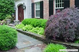 Formal Front Yard Landscaping Ideas - another nice example of formal entry using color and texture