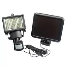 solar powered sensor security light 100 led solar powered pir motion sensor security light garden l