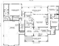 split bedroom house plans variety bedroom 59377nd f1 split house plans hedia