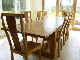 oak kitchen table and chairs handmade extending refectory table quercus furniture